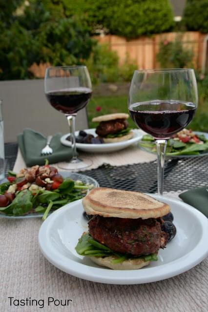 Lamb burgers by Tasting Pour