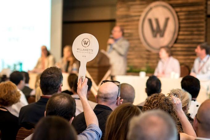 Bidding at Willamette Valley Barrel Auction