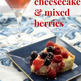 "Labneh (Kefir) ""Cheesecake"" & Del Rio Rose Jolee #winepw"