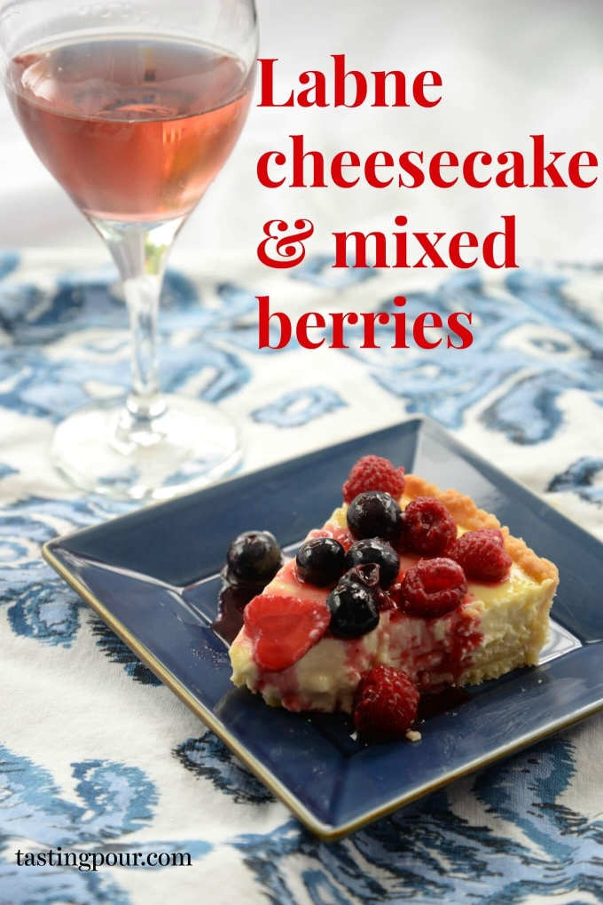 Labneh cheesecake and mixed berries