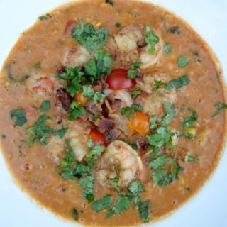 Shrimp and Corn Soup with Grüner Veltliner #winepw