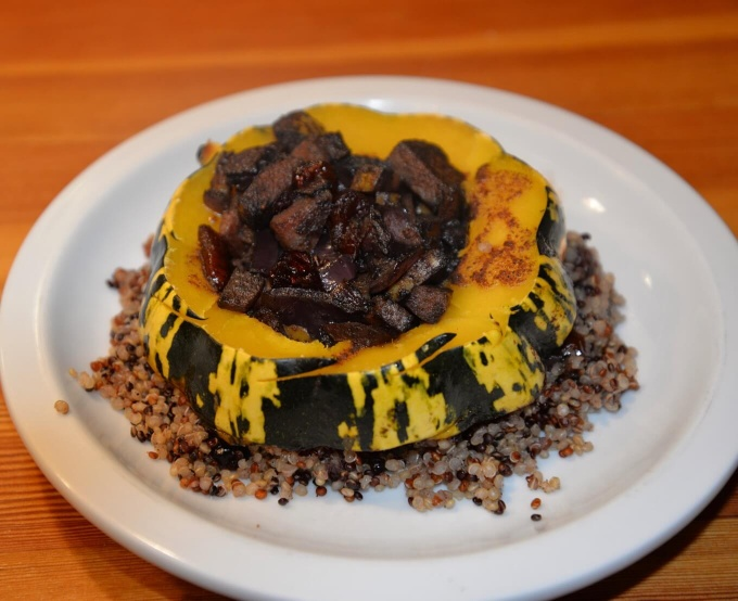 Baked Acorn Squash and Quinoa