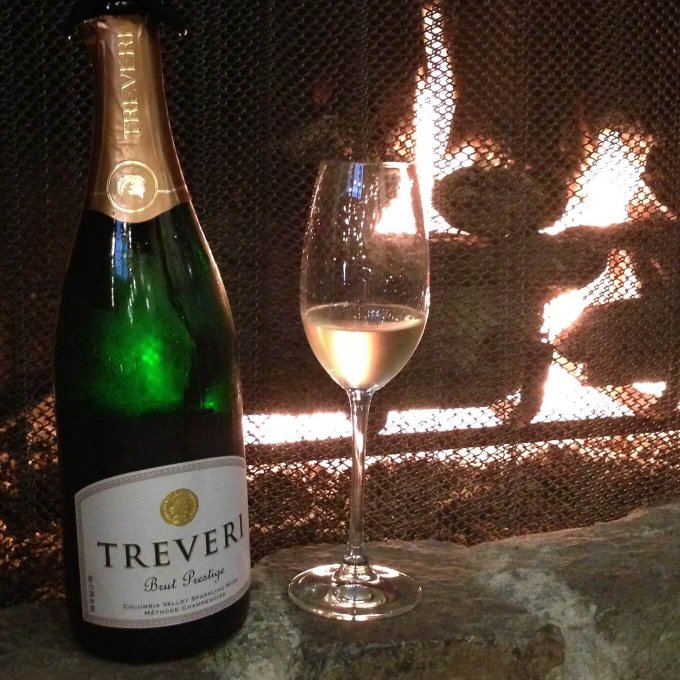 Treveri Cellars Sparkling Wine Fireplace