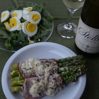 Asparagus and Ham Alsatian Style