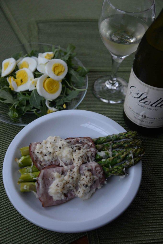 Alsatian Asparagus and Stoller Chardonnay