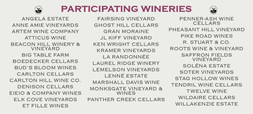 Yamhill-Carlton Participating Wineries