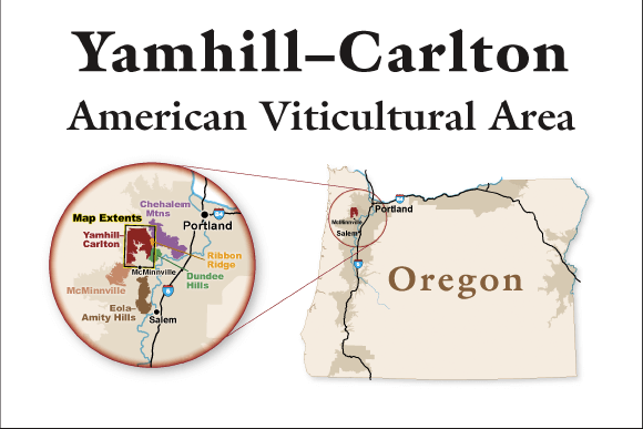 Yamhill-Carlton AVA Location
