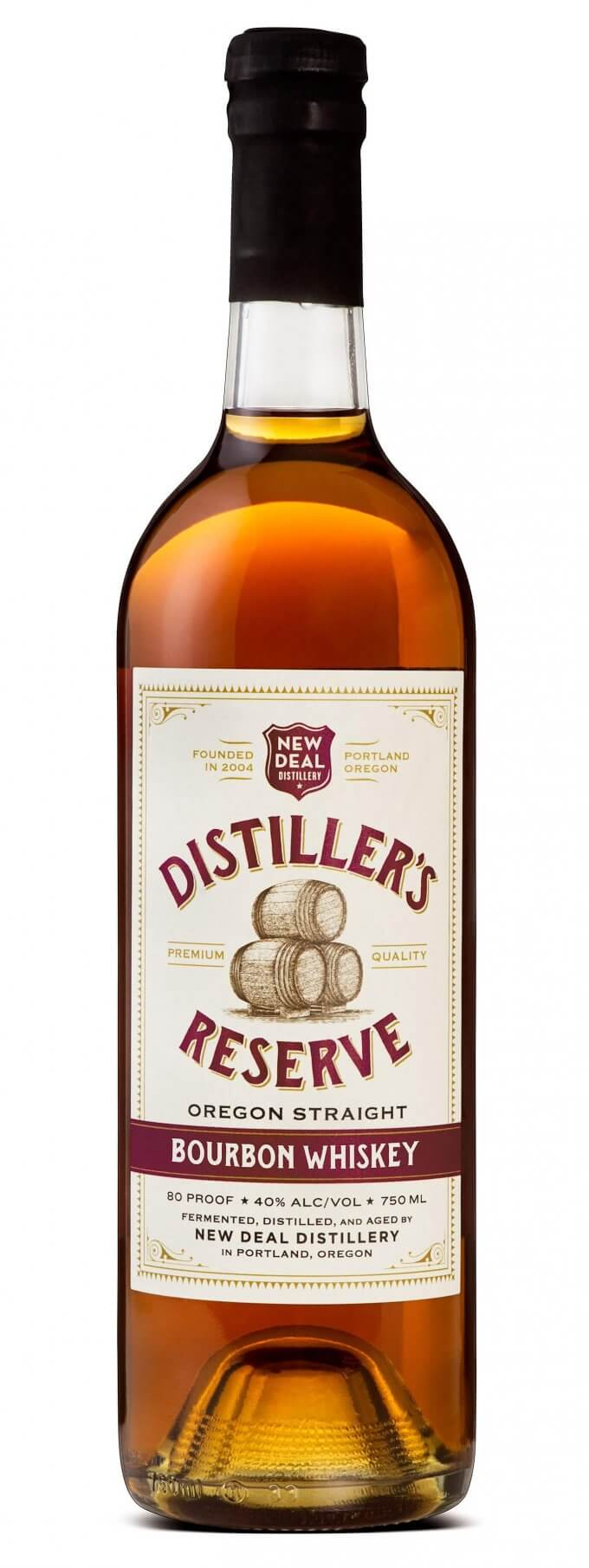 Oregon Bourbon - New Deal Distillers Reserve Oregon Straight Bourbon Whiskey