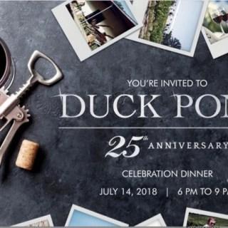 Duck Pond Cellars 25th Anniversary Dinner
