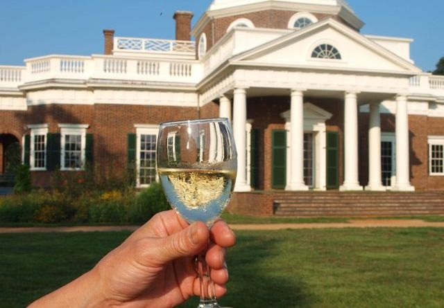 White wine at Monticello, Virginia