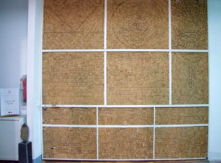 wall of corks clos de gat