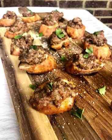Sausage Bruschetta
