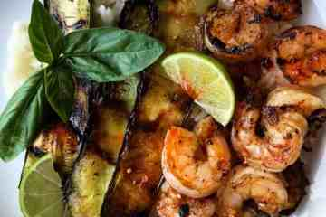 Easy Spicy Grilled Shrimp with Coconut Rice