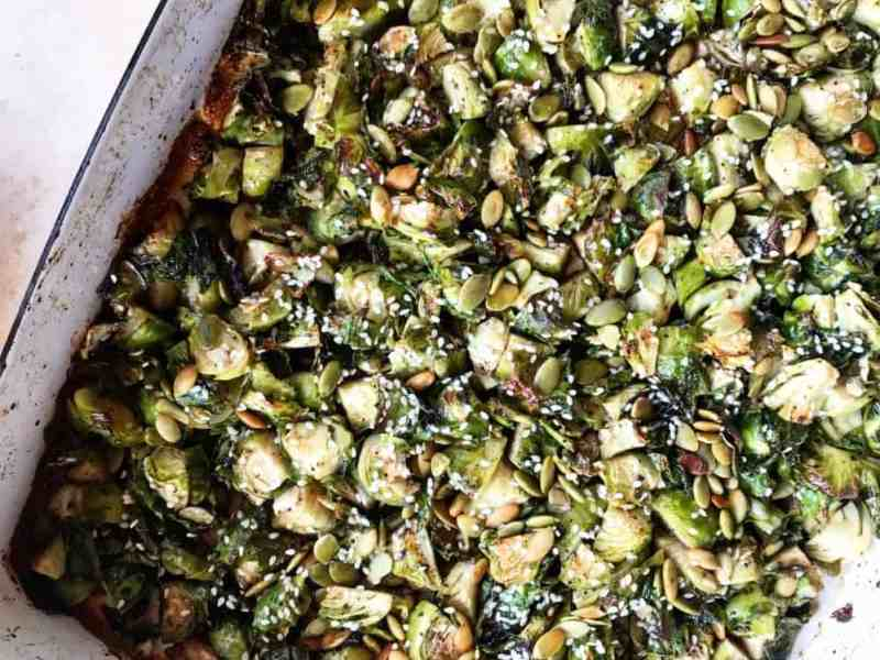 Sesame Soy Glazed Brussels Sprouts