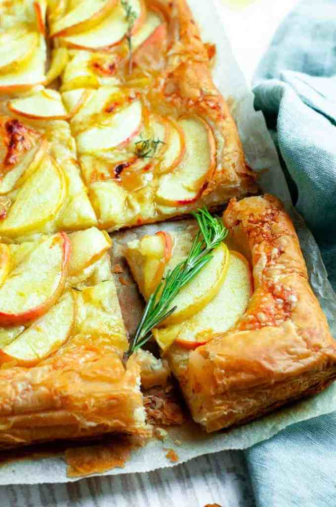 Apple and white cheddar tart