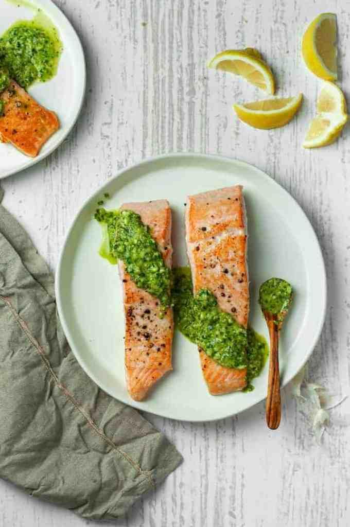 Salmon with Chimichurri Sauce recipe