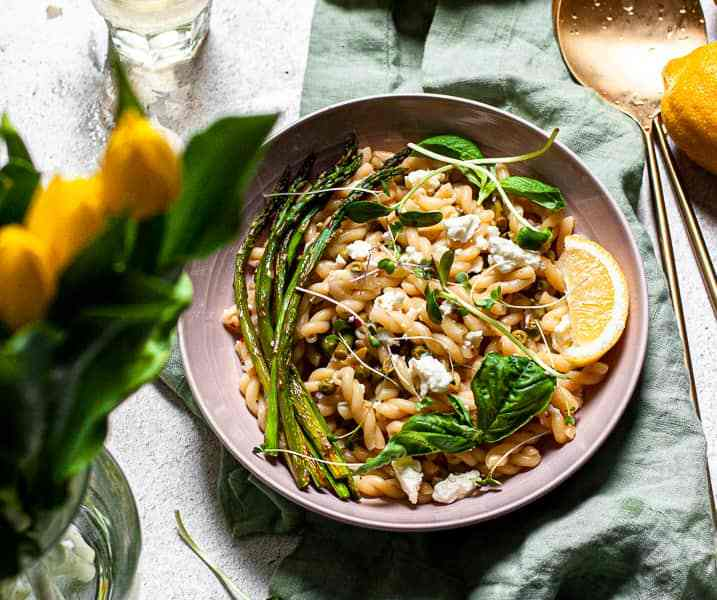 Fresh Spring Pasta Primavera with Feta