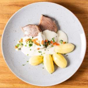 Tafelspitz mit Kartoffeln Gemüsewürfel