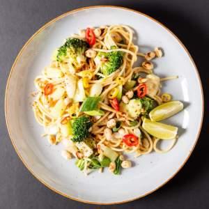 Leckere spaghetti pad thai