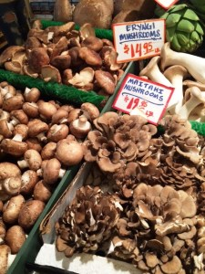 mushrooms pike place
