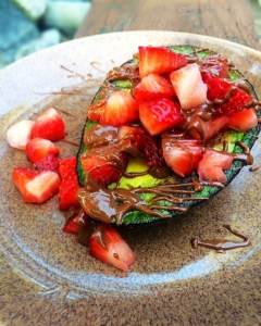 strawberry stuffed avo