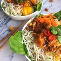 Koreaanse salade met Kip