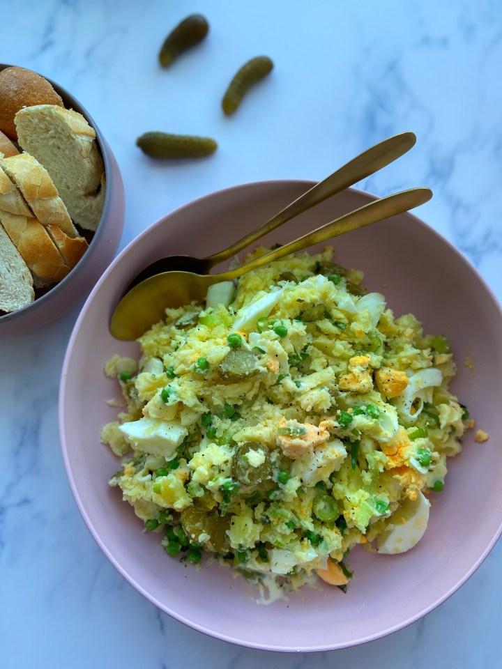 Gestampte aardappelsalade