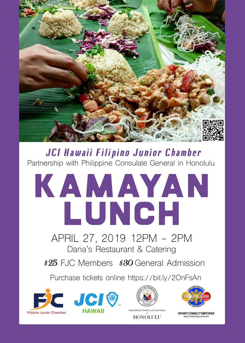 Kamayan Lunch by the JCI Hawaii Filipino Junior Chamber