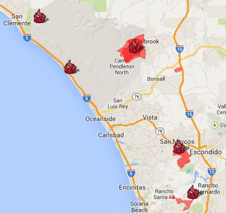 San Diego Fire Map Today.San Diego Fire Map Tastylandscapetastylandscape