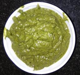 Pesto sauce preparation