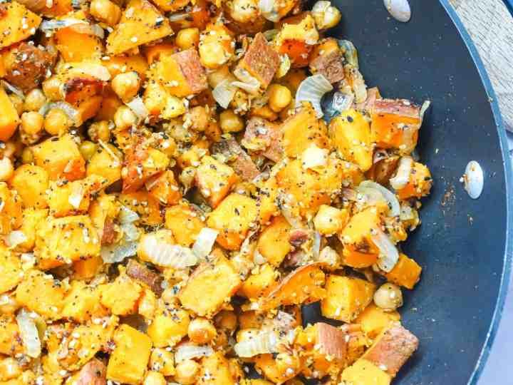 sweet potato chickpea hash