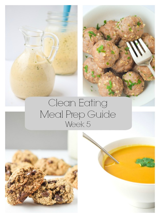 Clean Eating Meal Prep Guide (Week 5)- Weekly Meal Prep tips featuring clean, whole food recipes. Always simple and always family friendly!| tastythin.com