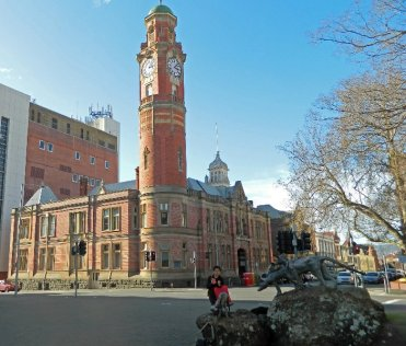 """The Launceston Post Office with it's infamous """"noisy"""" clock. http://www.telegraph.co.uk/news/worldnews/australiaandthepacific/australia/8634936/102-year-old-clock-could-be-stopped-in-Tasmania-because-noise-is-driving-tourists-away.html"""