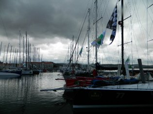 Dark clouds over Constitution Dock