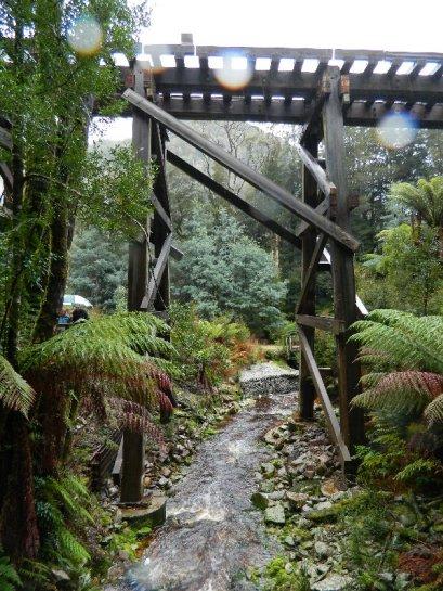 Trestle bridge, West Coast Wilderness Railway, Tasmania