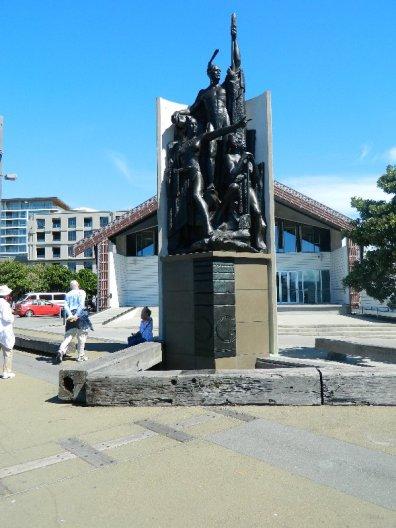 Kupe Group Statue, part of the Wellington Sculpture walk.