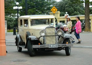 Another beautifully restored vintage car.