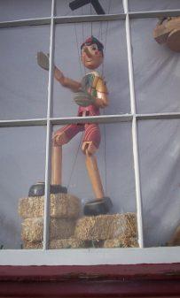 Pinocchio! In an Oatlands shop window.