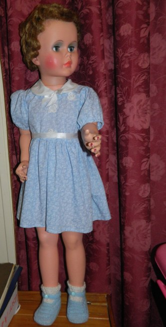 My largest doll. I think she is a Canadian Wendy Walker or something similar.