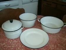 Old enamel cookware