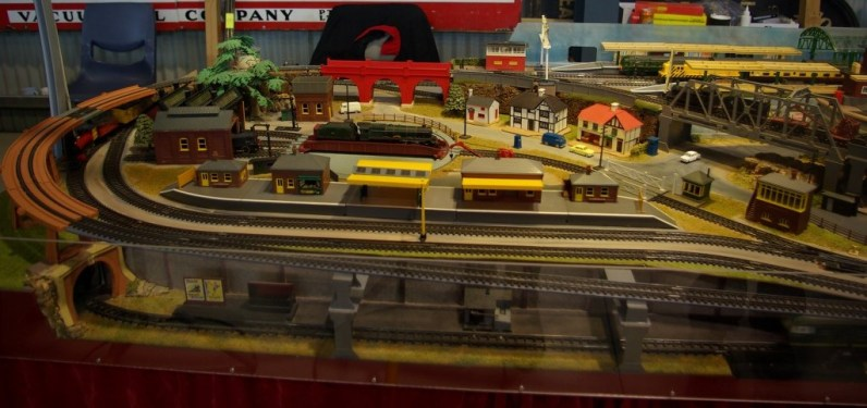 A Triang Hornby train set. Hobart Model Railway show 2016.