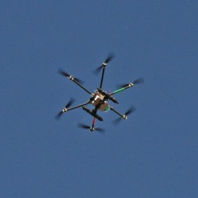 Drone airborne.