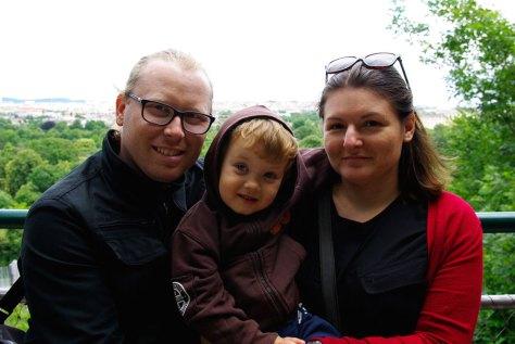 Luka, Lucijan i Ana nakon šetnje po bečkom zoološkom vrtu