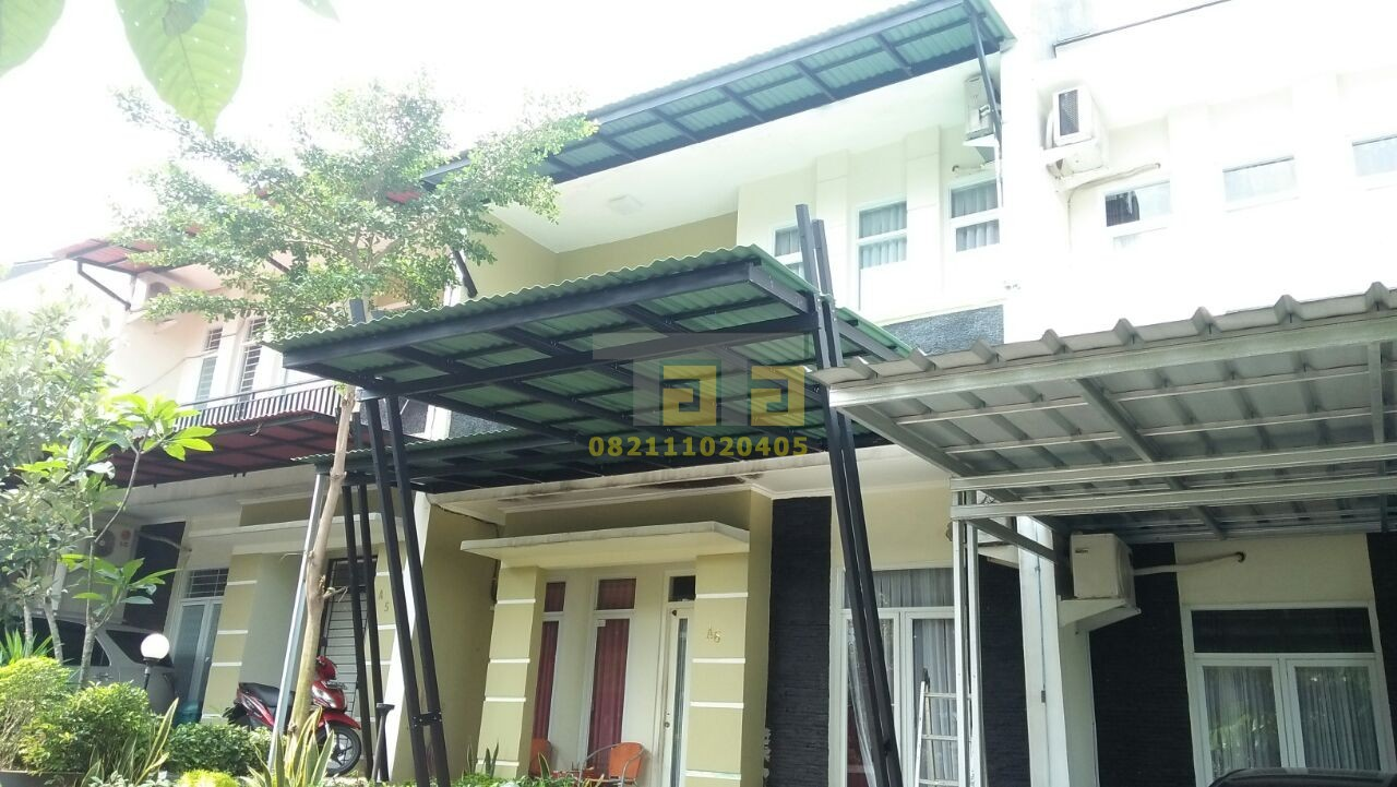pasang canopy baja ringan depok pendowo hills atap kanopi tata jasa penyedia