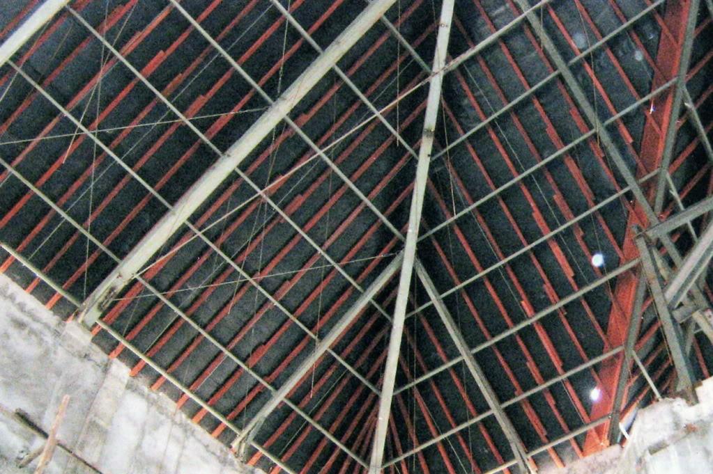aluminium foil pada baja ringan tata atap penahan radiasi furniture