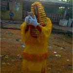 (PHOTO) Masquerade Spotted Taking a Selfie in Imo State