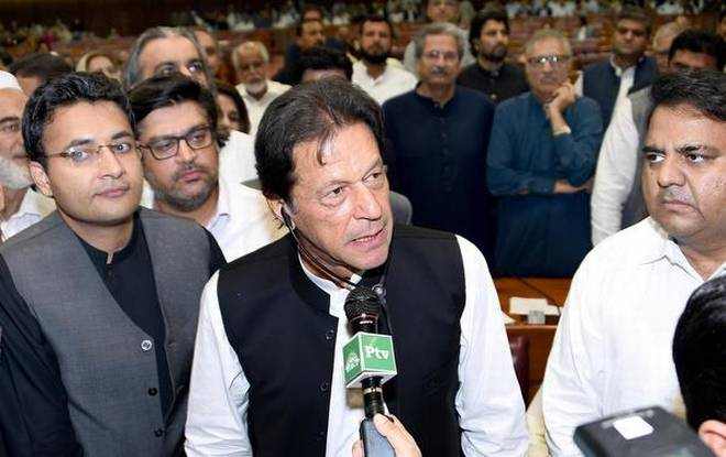 Imran Khan Being Sworn in as Pakistan Prime Minister