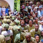 President Buhari Sends Sallah Message and Host NYSC Members in Daura (photos)