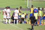 Tragedy –  Gabonese Footballer Collapses and dies  on Pitch