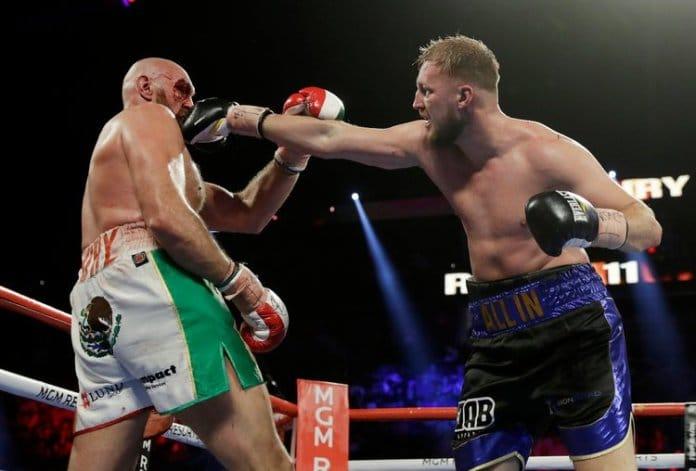 Tyson Fury v Otto Wallin: Bloodied Fury beats Wallin in dramatic Las Vegas bout